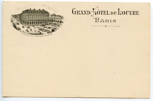 The original location of the Grand Hotel du Louvre, at the time of Mademoiselle La Victoire's liason.