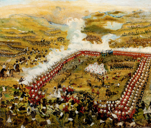 """The Battle of Abu Klea"" as imagined by artist J. Le Page"