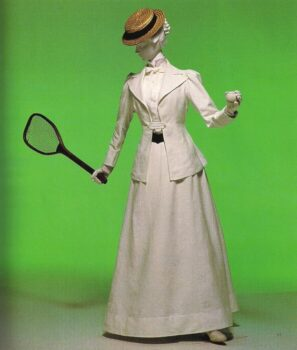 A 1890 Tennis suit in cotton