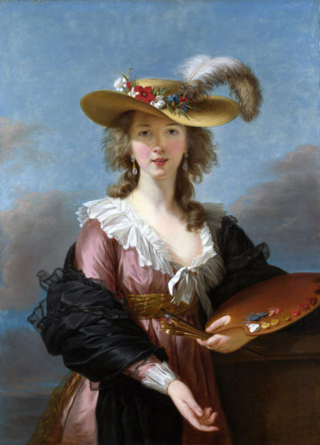 """Self Portrait in a Straw Hat"" by Elisabeth Vigée LeBrun, 1782"