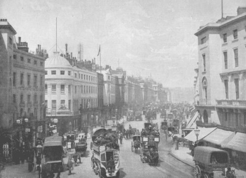 Regent's Street, near the time of the story