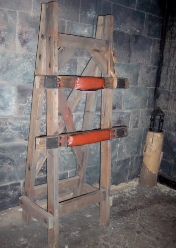 19th century whipping rack, formerly at the Clink Museum, London