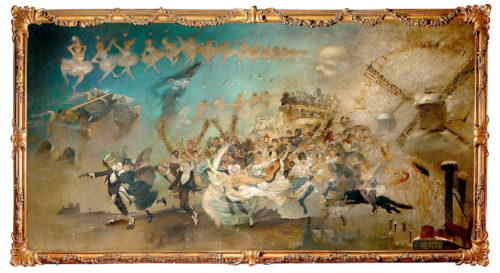"""""""Parce Domine"""" by Adolphe Willette, 1883, partying straight to hell as seen on the wall of the Chat Noir"""