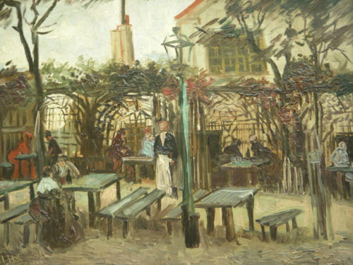 """Le Guinguette"" by Van Gogh, 1886, thought to be the Franc Buveur"