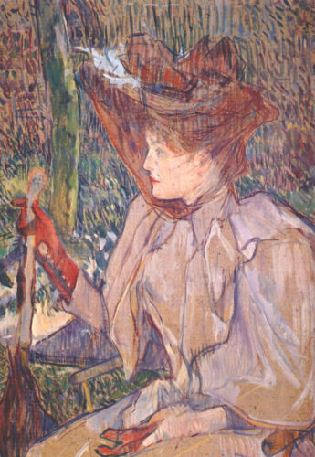 """Woman with Gloves"" by Toulouse-Lautrec, 1891"