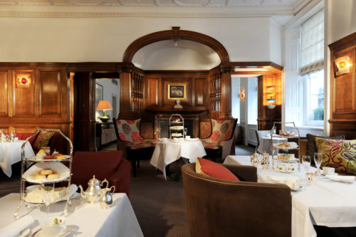 Brown's Hotel, London, the tea room today, much as it was then