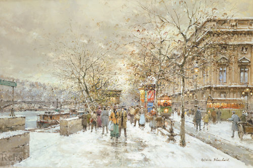 The Louvre in Winter, 1888 by Antoine Blanchard