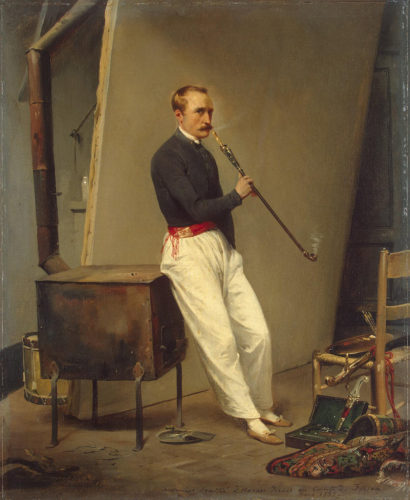Holmes' great uncle Horace Vernet, self-portrait 1835