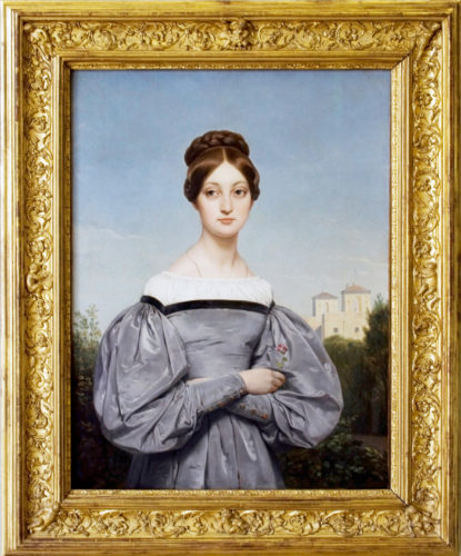 Louise Vernet, Holmes first cousin once removed, age 16, by her father, Horace Vernet c. 1830