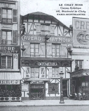The Chat Noir, third location on the Boulevard de Clichy