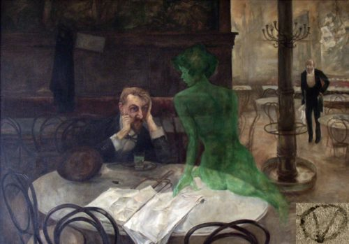 """The Green Fairy"" by Polish expat Viktor Oliva"