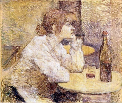 """The Hangover"" a portrait of Lautrec's friend, the model and painter Suzanne Valadon"