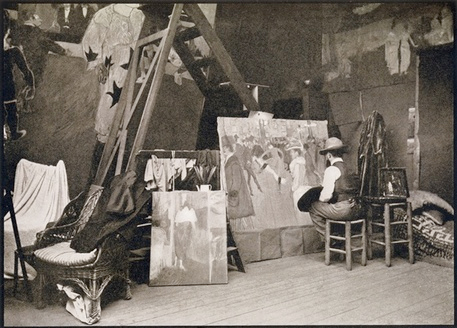 Lautrec painting in the Caulaincourt studio/apartment