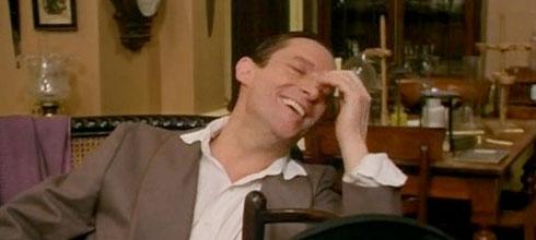 Jeremy Brett Sherlock Holmes laughing