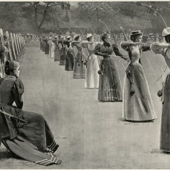 Ladies Meeting of the Toxophilite Society, Regents Park